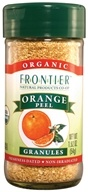 Frontier Natural Products - Orange Peel Granules Organic - 1.92 oz. - $4.08