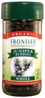 Image of Frontier Natural Products - Juniper Berries Whole Organic - 1.28 oz.