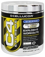 Image of Cellucor - C4 Extreme Pre-Workout with NO3 Icy Blue Raspberry 60 Servings - 360 Grams
