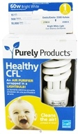 Image of Purely Products - Healthy CFL Air Purifier Twist Lightbulb 60-Watts Bright White