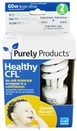 Purely Products - Healthy CFL Air Purifier Twist Lightbulb 60-Watts Bright White - 2 Pack