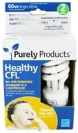 Purely Products - Healthy CFL Air Purifier Twist Lightbulb 60-Watts Bright White - 2 Pack, from category: Health Aids