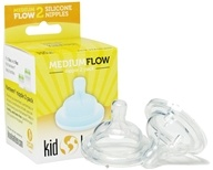 Image of Klean Kanteen - Kid Kanteen Silicone Nipple Medium Flow - 2 Pack CLEARANCE PRICED