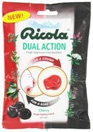 Ricola - Cough Suppressant Oral Anesthetic Drops Dual Action Cherry - 19 Lozenges by Ricola