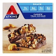 Atkins Nutritionals Inc. - Advantage Snack Bar Cashew Trail Mix - 5 Bars (637480025850)