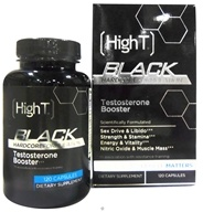 High T - Black All Natural Testosterone Booster - 120 Capsules by High T