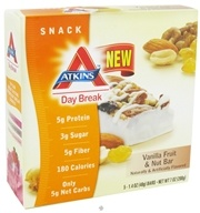 Atkins Nutritionals Inc. - Day Break Bar Vanilla Fruit & Nut - 5 Bars