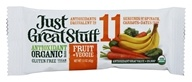 Betty Lou's - Just Great Stuff Bar Organic Fruit & Veggie - 1.5 oz., from category: Nutritional Bars