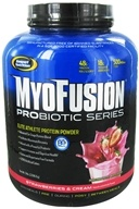 Image of Gaspari Nutrition - MyoFusion Probiotic Series Protein Strawberries & Cream - 5 lbs.