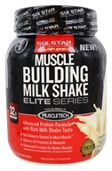 Image of Six Star Pro Nutrition - Professional Strength Muscle Building Milk Shake Elite Series Rich Vanilla Ice Cream - 2 lbs.