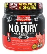 Six Star Pro Nutrition - Professional Strength N.O. Fury Elite Series Fruit Punch - 1 lbs. by Six Star Pro Nutrition
