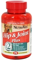Nutri-Vet - Hip & Joint Plus Level 2 For Dogs Liver - 75 Chewables by Nutri-Vet