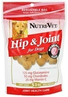 Nutri-Vet - Hip & Joint Level 2 Soft Chews For Dogs Natural Smoke Flavor - 5.3 oz. (669125114483)