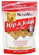 Nutri-Vet - Hip & Joint Level 2 Soft Chews For Dogs Natural Smoke Flavor - 5.3 oz. by Nutri-Vet