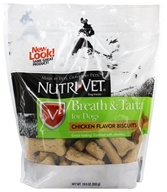 Nutri-Vet - Breath & Tartar Biscuits For Dogs Mint & Parsley - 19.5 oz., from category: Pet Care