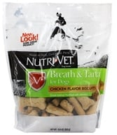 Nutri-Vet - Breath & Tartar Biscuits For Dogs Mint & Parsley - 19.5 oz. by Nutri-Vet
