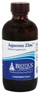 Biotics Research - Aqueous Zinc - 4 oz. by Biotics Research