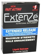 ExtenZe - Maximum Strength Male Enhancement Fast Acting Extended Release - 30 Liquid Capsules by ExtenZe
