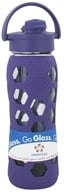 Image of Lifefactory - Glass Beverage Bottle With Silicone Sleeve and Flip Top Cap Royal Purple - 22 oz.