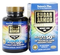 Nature's Plus - Sugar Armor Sugar Blocker Weight Loss Aid - 60 Vegetarian Capsules
