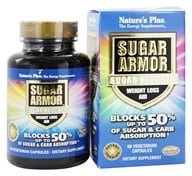 Image of Nature's Plus - Sugar Armor Sugar Blocker Weight Loss Aid - 60 Vegetarian Capsules