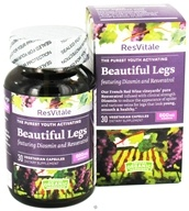 ResVitale - Beautiful Legs 600 mg. - 30 Vegetarian Capsules by ResVitale