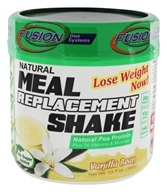 Fusion Diet Systems - Natural Pea Protein Meal Replacement Shake Vanilla Bean - 12.7 oz.