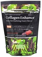 ResVitale - Collagen Enhance Skin Revitalizing Fruit Chews Burgundy Berry - 30 Chews