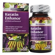 ResVitale - Keratin Enhance 500 mg. - 60 Vegetarian Capsules, from category: Nutritional Supplements