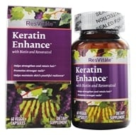ResVitale - Keratin Enhance 500 mg. - 60 Vegetarian Capsules by ResVitale