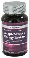 ResVitale - Adapto Stress 3 Energy Restore - 60 Vegetarian Capsules CLEARANCE PRICED (094922380418)