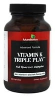 Futurebiotics - Vitamin K Triple Play Advanced Formula Full Spectrum Complex - 60 Capsules - $13.89