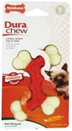 Image of Nylabone - Dura Chew Double Bone Petite For Powerful Chews Up To 15 lbs. Bacon Flavored