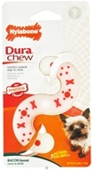 Image of Nylabone - Dura Chew S Shape Petite For Powerful Chewers Up To 15 lbs. Bacon Flavored