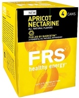 FRS Healthy Energy - All Natural Energy Drink 4 x 11.5 oz Cans Apricot Nectarine - 4 Pack