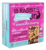 18 Rabbits - Bunny Bar Organic Granola Bar Squeaky Cheeky Choco Cherry - 6.3 oz. (184500000422)