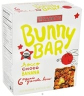 Image of 18 Rabbits - Bunny Bar Organic Granola Rocco Choco Banana - 6 x 1.05 oz.(30g) Bars