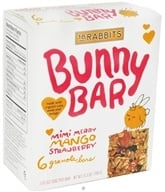 18 Rabbits - Bunny Bar Organic Granola Mimi Merry Mango Strawberry - 6 x 1.05 oz.(30g) Bars