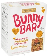 18 Rabbits - Bunny Bar Organic Granola Mimi Merry Mango Strawberry - 6 x 1.05 oz.(30g) Bars by 18 Rabbits