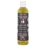 Image of Soothing Touch - Bath Body & Massage Oil Invigorating Muscle Comfort - 8 oz.