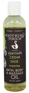 Soothing Touch - Bath, Body & Massage Oil Restoring Cedar Sage - 8 oz.