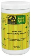 Solid Gold - Pure MSM Methyl Sulfonyl Methane For Horses, Dogs & Cats - 8 oz. (093766740402)