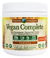 Pure Vegan - Vegan Complete Meal replacement with Multi-GuarD Vanilla - 1.42 lbs. by Pure Vegan