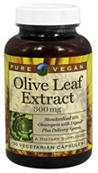 Pure Vegan - Olive Leaf Extract 300 mg. - 90 Vegetarian Capsules