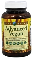 Pure Vegan - Advanced Vegan - 60 Vegetarian Capsules (013886710000)