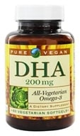 Pure Vegan - DHA 200 mg. - 60 Vegetarian Softgels by Pure Vegan