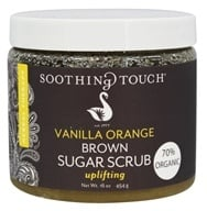 Soothing Touch - Brown Sugar Scrub Uplifting Vanilla Orange - 16 oz. LUCKY PRICE