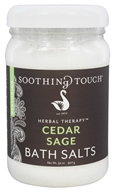 Image of Soothing Touch - Bath Salts Restoring Cedar Sage - 32 oz.