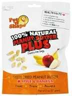 Pet 'N Shape - 100% Natural Peanut Butter Plus Treats For Dogs Apple & Banana - 2 oz. DAILY DEAL - $3.71