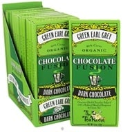The Tea Room - Organic Chocolate Fusion Bar 60% Cacao Dark Chocolate Green Earl Grey - 1.8 oz. by The Tea Room